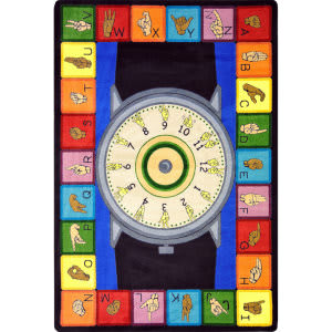 Joy Carpets Kid Essentials Signs Of The Time Multi Area Rug