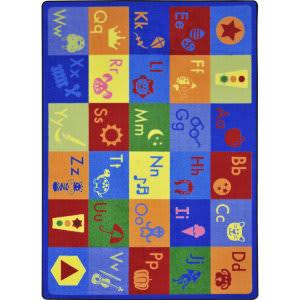 Joy Carpets Kid Essentials Simply Phonics Multi Area Rug