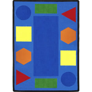 Joy Carpets Kid Essentials Sitting Shapes Multi Area Rug