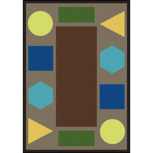Joy Carpets Kid Essentials Sitting Shapes Earthtone Area Rug