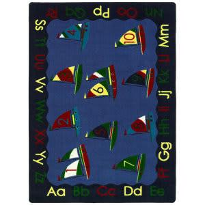 Joy Carpets Kid Essentials Smooth Sailing Multi Area Rug