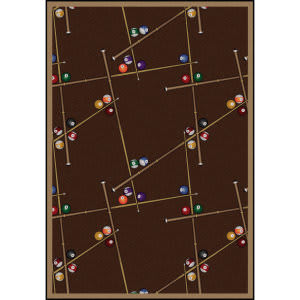 Joy Carpets Games People Play Snookered Chocolate Area Rug