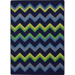 Joy Carpets Kid Essentials Sonic Navy Area Rug