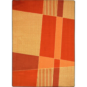 Joy Carpets Kid Essentials Spazz Orange Area Rug