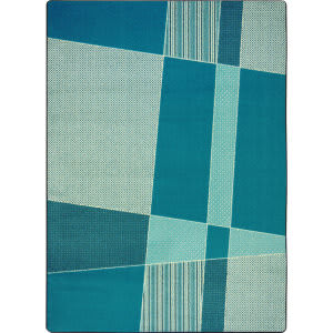 Joy Carpets Kid Essentials Spazz Teal Area Rug