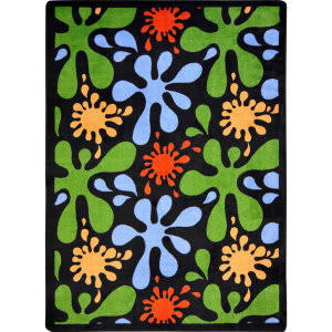 Joy Carpets Kid Essentials Splat Black Area Rug