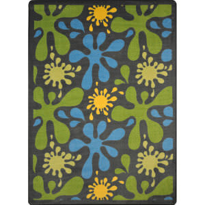 Joy Carpets Kid Essentials Splat Gray Area Rug