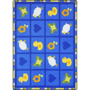 Joy Carpets Kid Essentials Spring Things Blue Area Rug