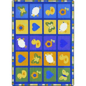 Joy Carpets Kid Essentials Spring Things Multi Area Rug
