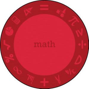 Joy Carpets Kid Essentials Steam Math Area Rug