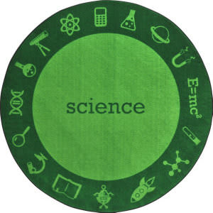 Joy Carpets Kid Essentials Steam Science Area Rug