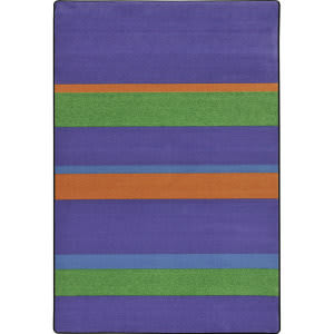 Joy Carpets Kid Essentials Straight And Narrow Violet Area Rug
