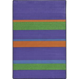 Joy Carpets Kid Essentials Straight And Narrow Violet Area Rug