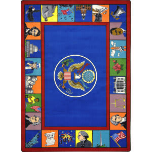 Joy Carpets Kid Essentials Symbols Of America Multi Area Rug