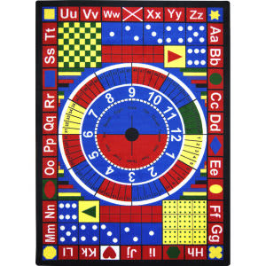 Joy Carpets Kid Essentials Teach-A-Tot Multi Area Rug