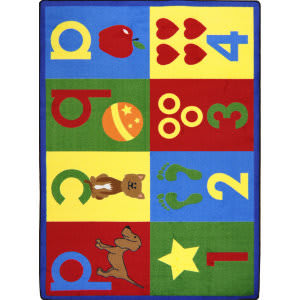 Joy Carpets Kid Essentials Toddler Basics Bold Area Rug