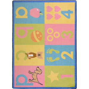 Joy Carpets Kid Essentials Toddler Basics Soft Area Rug