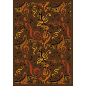 Joy Carpets Kid Essentials Virtuoso Brown Area Rug
