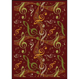 Joy Carpets Kid Essentials Virtuoso Burgundy Area Rug
