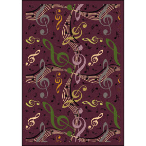 Joy Carpets Kid Essentials Virtuoso Plum Area Rug