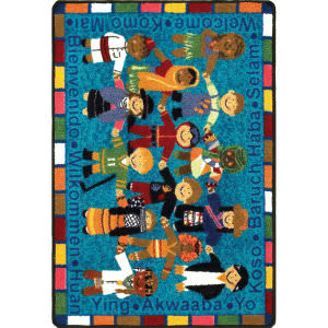 Joy Carpets Kid Essentials Welcome In Many Languages Multi Area Rug