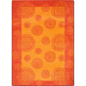 Joy Carpets Kid Essentials Whimzi Orange Area Rug