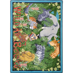 Joy Carpets Kid Essentials Wild About Books Multi Area Rug