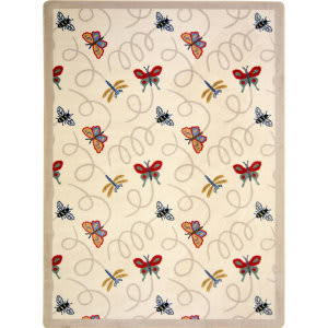 Joy Carpets Kaleidoscope Wing Dings Beige Area Rug