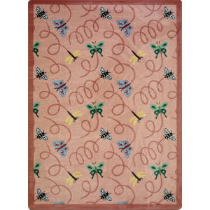 Joy Carpets Kaleidoscope Wing Dings Rose Area Rug