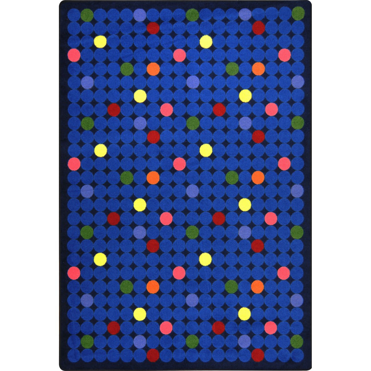 Joy Carpets Playful Patterns Spot On Rainbow Area Rug #144531