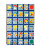 Joy Carpets Kid Essentials Alphabet Blues Multi Area Rug