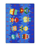 Joy Carpets Kid Essentials Alphabet Bots Multi Area Rug