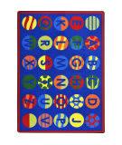 Joy Carpets Kid Essentials Alphabet Patterns Multi Area Rug