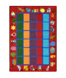 Joy Carpets Kid Essentials Alphabet Phonics Red Area Rug