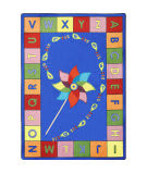 Joy Carpets Kid Essentials Alphabet Pinwheel Multi Area Rug