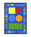 Joy Carpets Kid Essentials Alphabet Shapes Multi Area Rug