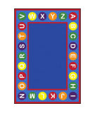 Joy Carpets Kid Essentials Alphabet Spots Multi Area Rug