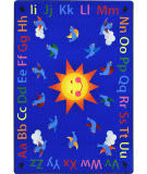 Joy Carpets Kid Essentials Alphabet Tweet Multi Area Rug