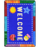 Joy Carpets Kid Essentials Alphabet Upcycle Multi Area Rug