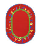 Joy Carpets Kid Essentials Alphascript Red Area Rug