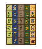 Joy Carpets Kid Essentials Any Day Alphabet Earthtone Area Rug