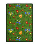 Joy Carpets Kid Essentials Bee Attitudes Green Area Rug