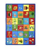Joy Carpets Kid Essentials Bilingual Phonics Multi Area Rug