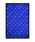 Joy Carpets Games People Play Billiards Blue Area Rug