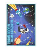Joy Carpets Kid Essentials Blast Off With A Good Book Multi Area Rug