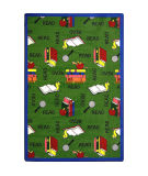 Joy Carpets Kid Essentials Bookworm Green Area Rug
