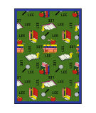 Joy Carpets Kid Essentials Bookworm Spanish Green Area Rug