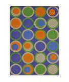 Joy Carpets Kid Essentials Circle Back Violet Area Rug