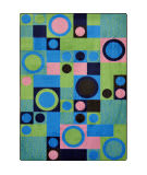 Joy Carpets Kid Essentials City Block Green Area Rug