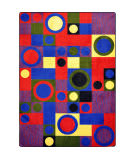 Joy Carpets Kid Essentials City Block Red Area Rug